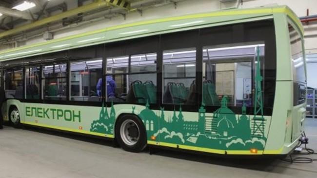 Во Львове показали первый в Украине електробус